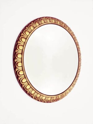 Круглое дизайнерское зеркало в раме «Лусия»