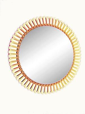 Круглое дизайнерское зеркало солнце «РА»
