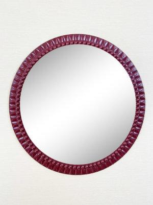 Круглое дизайнерское зеркало в раме «ЛУИЗА»