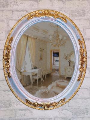 Дизайнерское овальное зеркало в раме «ЕКАТЕРИНА»