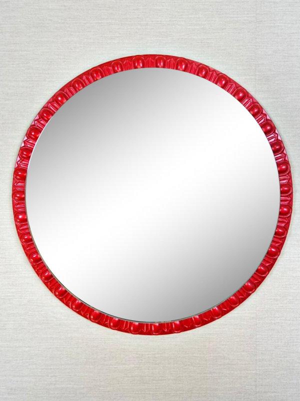 Круглое дизайнерское зеркало в раме «ТРЭЙСИ»