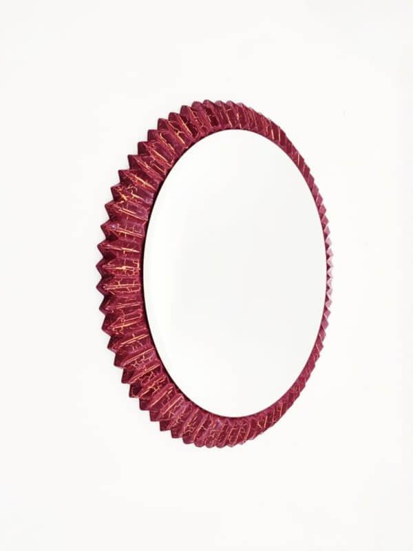 Круглое дизайнерское зеркало солнце «РЭММИ»