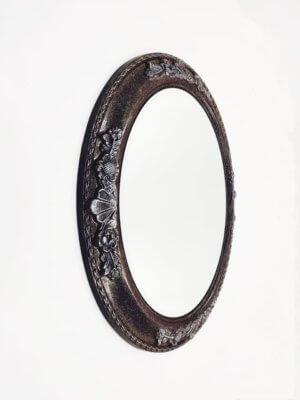 Дизайнерское овальное зеркало в раме «Летисия»