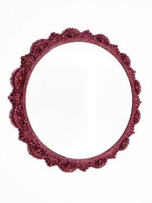 Круглое дизайнерское зеркало в раме «МЭЙТ»